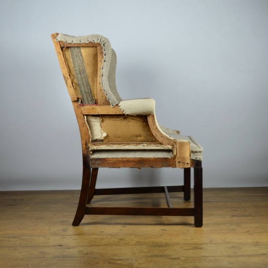 Antique Sofa Reupholstery Cost: C229 - Small Wing Chair, Reupholstery Inc.